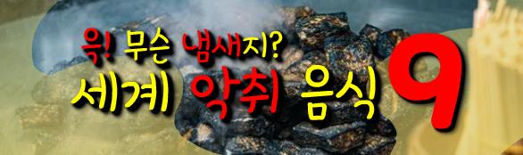 윽! 무슨 냄새지 세계 악취 음식 9